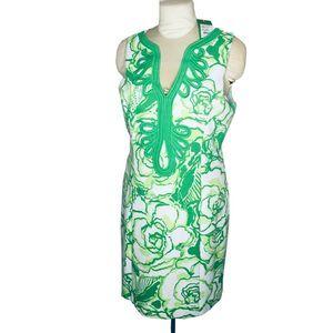 Lilly Pulitzer Janice Dress White Green Ottoman